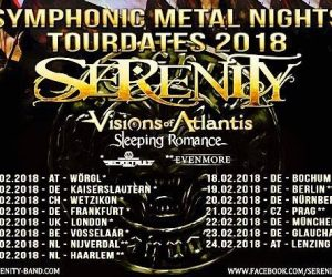 Secret Rule on tour with Serenity, Visions of Atlantis and Sleeping Romance